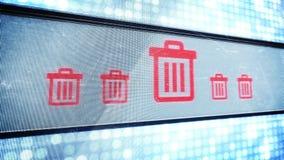 Trash signs in pixel design stock video