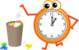 Trash time Stock Images