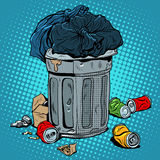 Trash tin cans ecology recycling Royalty Free Stock Photos