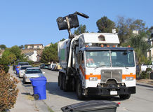 Trash Truck Stock Photo