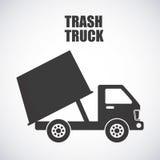 Trash truck design Royalty Free Stock Photos