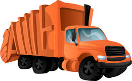 Trash truck. Vector illustration Royalty Free Stock Photography