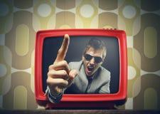 Trash Tv Stock Photo