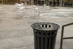 Trash waste bin on new york city street Stock Images