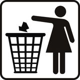 Trash woman Stock Photography