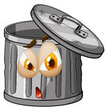 Trashcan with facial expression Stock Photography