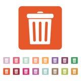 The trashcan icon. Dustbin symbol. Flat Stock Image