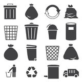 Trashcan icon set Stock Image