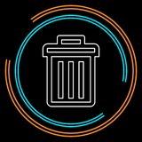 Trashcan-Ikone, Vektorabfalleimer - Korb lizenzfreie abbildung