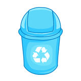 Trashcan isolated illustration Royalty Free Stock Photography