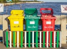 Trashcan na rua Fotografia de Stock Royalty Free
