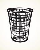 Trashcan para el papel Gráfico del vector Fotografía de archivo