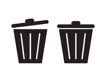 Trashcan silhouette Stock Photos