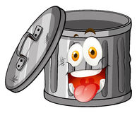 Trashcan with smiling face Royalty Free Stock Photos