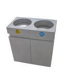 Trashcan Stainless steel Royalty Free Stock Images
