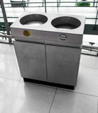 Trashcan Stainless steel Stock Photography
