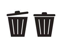 Trashcan sylwetka Zdjęcia Stock