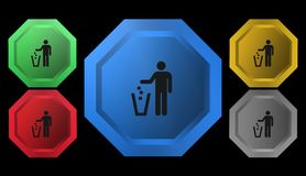 Trashcan symbol, tecken, illustration Arkivbilder