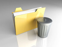 Trashed document Royalty Free Stock Image