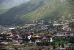 Trashi Chhoe Dzong, Thimphu, Bhutan Royalty Free Stock Photo