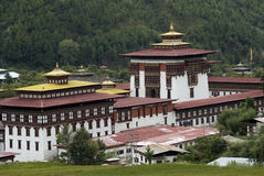 Trashi Chhoe Dzong, Thimphu, Bhutan Royaltyfria Bilder