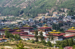 Trashi Chhoe Dzong, Thimphu, Bhutan royalty free stock photos