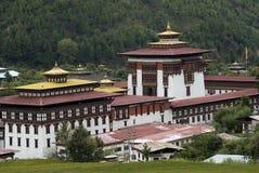 Trashi Chhoe Dzong, Timbu, Bhután Imágenes de archivo libres de regalías