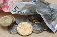 Trashing the euro Stock Images