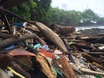 Trashy beach. Trash on the beach Stock Images