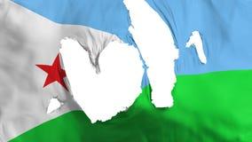 Trasig Djibouti flagga stock illustrationer