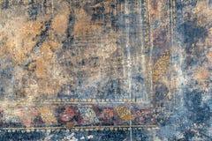 Trasig freskomålning i Pompeii, Italien Royaltyfri Fotografi