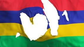 Trasig Mauritius flagga royaltyfri illustrationer