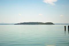 Trasimeno Lake Island Maggiore and Minore Stock Photos