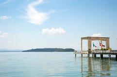 Trasimeno Lake Maggiore Island port Stock Photo