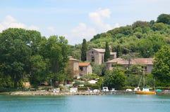 Trasimeno Lake Maggiore Island port Royalty Free Stock Photography