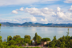 Trasimeno lake, Umbria, Italy Royalty Free Stock Images