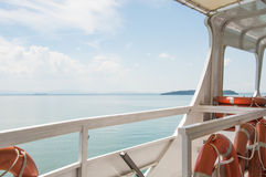 Trasimeno Lake view in boat Stock Images