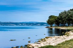 Trasimeno Lake. A view from the coast Stock Photography