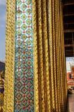 Traslapo de cristal del modelo del poste del mosaico Fotografía de archivo