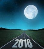 Trasmetta al nuovo anno 2016 fotografia stock libera da diritti