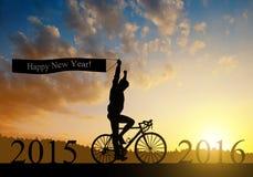 Trasmetta al nuovo anno 2016 fotografie stock libere da diritti