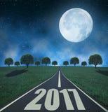 Trasmetta al nuovo anno 2017 Immagini Stock