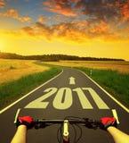 Trasmetta al nuovo anno 2017 Fotografia Stock