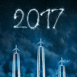 Trasmetta al nuovo anno 2017 Fotografia Stock Libera da Diritti
