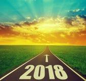 Trasmetta al nuovo anno 2018 immagini stock