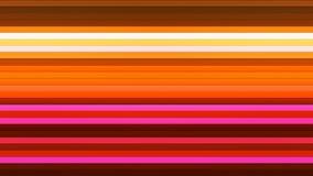 Trasmetta per radio le barre orizzontali di Ciao-tecnologia di twinkling, il multi colore, l'estratto, Loopable, 4K illustrazione di stock