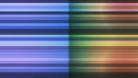 Trasmetta per radio le barre orizzontali di Ciao-tecnologia di twinkling, il multi colore, l'estratto, Loopable, 4K illustrazione vettoriale