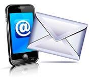 Trasmetta un'icona della lettera - telefono mobile Fotografia Stock