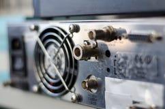 Trasmettitore FM dei connettori del pannello posteriore fotografia stock libera da diritti