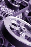 Trasmissione a cinghia del motore Fotografie Stock